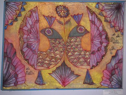 Нажмите на изображение для увеличения Название: Птицы - картина, батик.jpg Просмотры: 285 Размер:151.4 Кб ID:17170