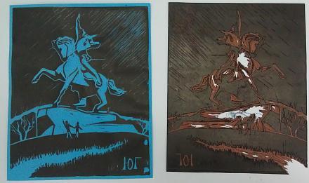 Нажмите на изображение для увеличения Название: Картины из линолеума - конь Суворова.jpg Просмотры: 285 Размер:72.4 Кб ID:17372