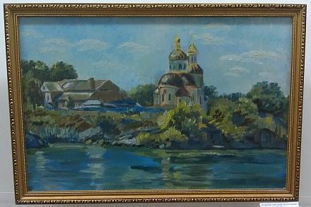 Нажмите на изображение для увеличения Название: У реки. Картина Ткаченко Светланы..jpg Просмотры: 271 Размер:91.4 Кб ID:17381