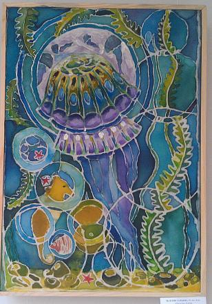 Нажмите на изображение для увеличения Название: Медуза - батик.jpg Просмотры: 250 Размер:134.6 Кб ID:18896