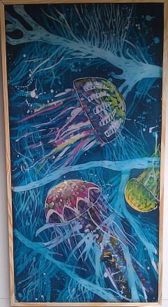 Нажмите на изображение для увеличения Название: Царство медуз - батик.jpg Просмотры: 259 Размер:103.5 Кб ID:18898