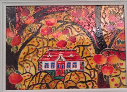 Нажмите на изображение для увеличения Название: Яблоки и дом - витраж.jpg Просмотры: 253 Размер:128.7 Кб ID:18903