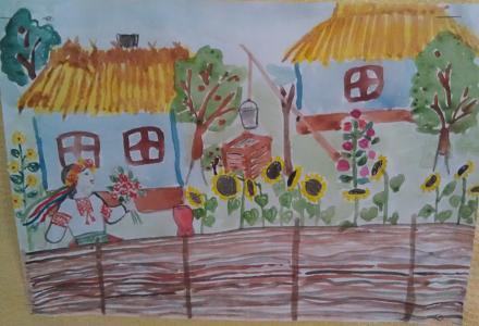 Нажмите на изображение для увеличения Название: Детский рисунок - укаринский хутор.jpg Просмотры: 344 Размер:75.0 Кб ID:21142
