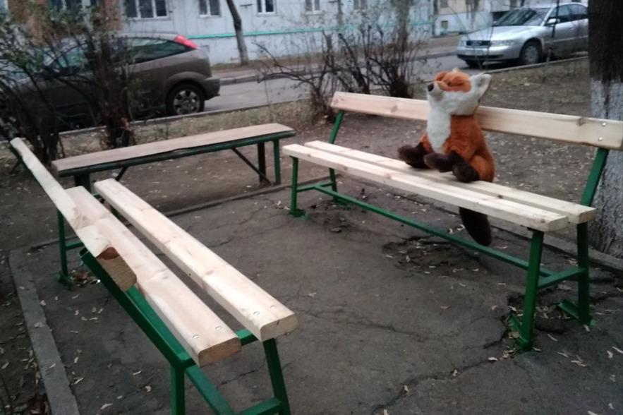 Название: Скамейка с лисой.jpg Просмотры: 519  Размер: 142.5 Кб