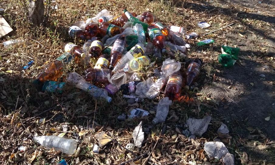 Название: Куча пластиковых бутылок - Ручей Лиманный.jpg Просмотры: 10  Размер: 330.1 Кб