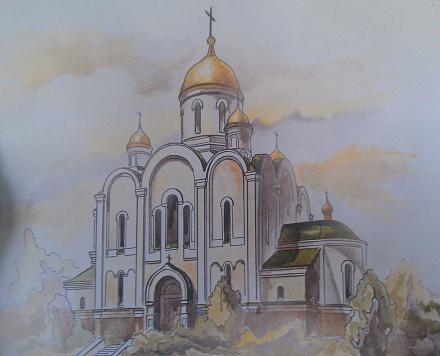 Нажмите на изображение для увеличения Название: Христо-Рождественский собор - рисунок.jpg Просмотры: 405 Размер:69.4 Кб ID:21500