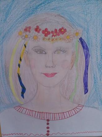 Нажмите на изображение для увеличения Название: Украинская девушка - детский рисунок.jpg Просмотры: 308 Размер:62.8 Кб ID:21146
