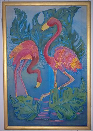 Нажмите на изображение для увеличения Название: Розовый фламинго - картина.jpg Просмотры: 359 Размер:89.6 Кб ID:17164